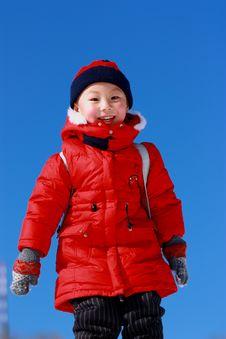 Free Asian Boy At Winter Royalty Free Stock Photo - 17787075