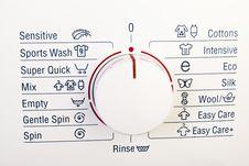 Free Washing Machine Control Royalty Free Stock Photos - 17787288