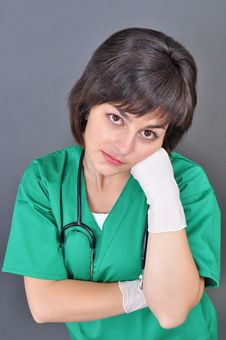 Free Attractive Lady Doctor Stock Photo - 17787860