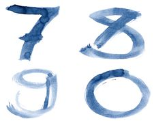 Free Blue Alphabet Royalty Free Stock Photo - 17787965