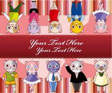 Free Cartoon Cat Card Stock Photography - 17788302