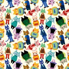 Free Seamless Cat Pattern Stock Images - 17788604