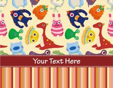 Free Cartoon Monster Card Royalty Free Stock Images - 17788609