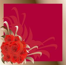 Free Frame With Roses Illustration. Royalty Free Stock Images - 17788839