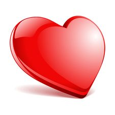 Free Red Glossy Heart Royalty Free Stock Photos - 17789408