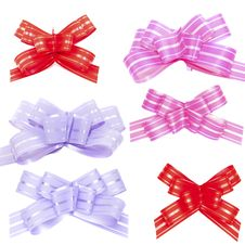 Free Set Of Bows Royalty Free Stock Photo - 17789455