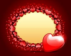 Valentine S Day Card With Heart Royalty Free Stock Photography