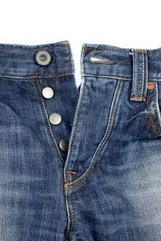 Free Close Up Of Blue Jeans Stock Image - 17789491