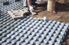 Garden Construction Royalty Free Stock Photos