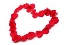 Free Rose Petals Forming Heart Shape Royalty Free Stock Photography - 17789717