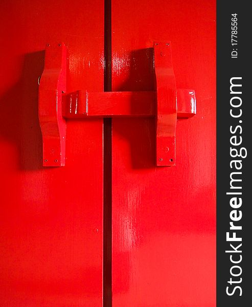 Red latch gate