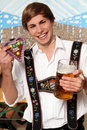 Free Bavarian Man With Beer Royalty Free Stock Image - 17791706