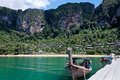 Free Longtail Boat Moored At Pontoon In Thailand Royalty Free Stock Photo - 17792885