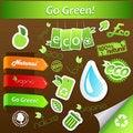 Free Set Of Green Ecology Icons. Stock Photos - 17796463