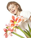 Free Little Girl  With Lilly Stock Photos - 17796703