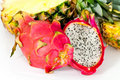 Free Pitaya, Fresh Dragon Fruit,Pineapple, Isolate Stock Image - 17799561