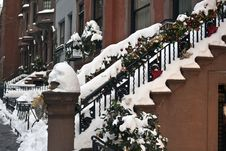 Free Brownstone Stairs Royalty Free Stock Photography - 17790057
