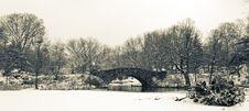 Gapstow Bridge - Central Park Royalty Free Stock Photography