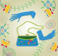 Free Handbag And Gloves Royalty Free Stock Photo - 17790365