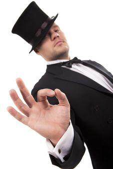 Free Magician Making  Ok  Gesture Stock Photos - 17790633