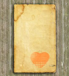 Free Old Heart Paper - Background Stock Photo - 17790660