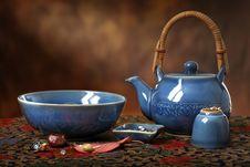 Free Blue Teapot Still Life Stock Image - 17790891