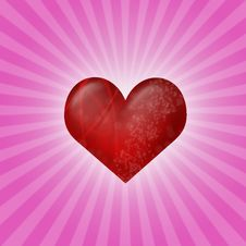 Free Heart On Pink Stock Photos - 17790943