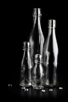 Free Clear Glass Bottles Royalty Free Stock Photography - 17790977