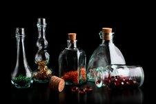 Free Beads In Bottles Stock Images - 17791124