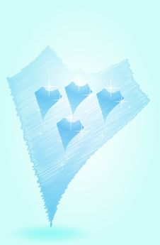 Icy Heart Stock Photography
