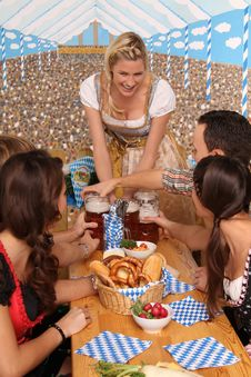 Free Bavarian Group With Beer Stock Images - 17791604