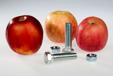 Free Apples And Bolts Royalty Free Stock Photography - 17791807