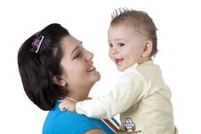 Free Happy Mother With Baby Stock Photography - 17791822