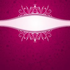 Pink Background With Decorative Ornaments Stock Images
