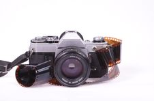 Analog Camera And Film Royalty Free Stock Image