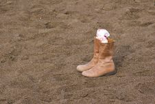Free Sand Boots Royalty Free Stock Photo - 17792365