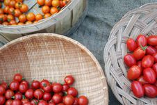 Free Baskets Of Three Varieties Of Cherry Tomatoes Stock Images - 17792414