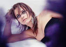 Free Fashion Beautiful Girl With Extraordinary Make Up Royalty Free Stock Image - 17792726