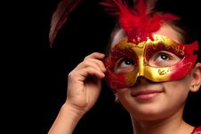 Free Red Mask Royalty Free Stock Photos - 17792988