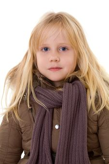 Free Blonde Girl - Child In Street Clothes Royalty Free Stock Image - 17793266