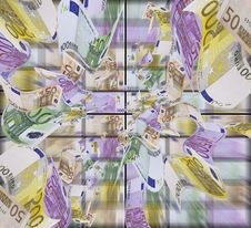 Banknotes Falling. Royalty Free Stock Images