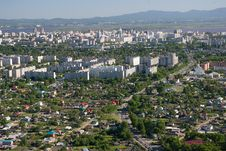 Free The City Of Khabarovsk A Kind From The Helicopte Stock Photos - 17793923