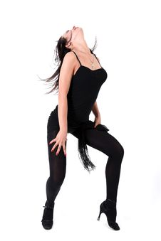 Free Dancer Isolated On White Stock Image - 17794301