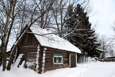 Free Winter Rural House Royalty Free Stock Photography - 17795257