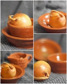 Free Onion And Pottery Stock Images - 17795684