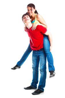 Free Teenage Couple Stock Photo - 17795870