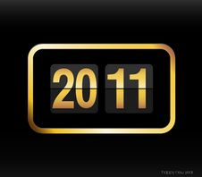 Free Flip Clock With 2011 Year. Stock Images - 17795944