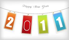 Free New Year Card. Stock Images - 17795964