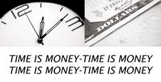 Free Time Is Money Royalty Free Stock Images - 17796159