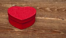 Free Red Box In Heart Shape Royalty Free Stock Image - 17796256